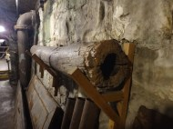 Original wooden sewer pipe