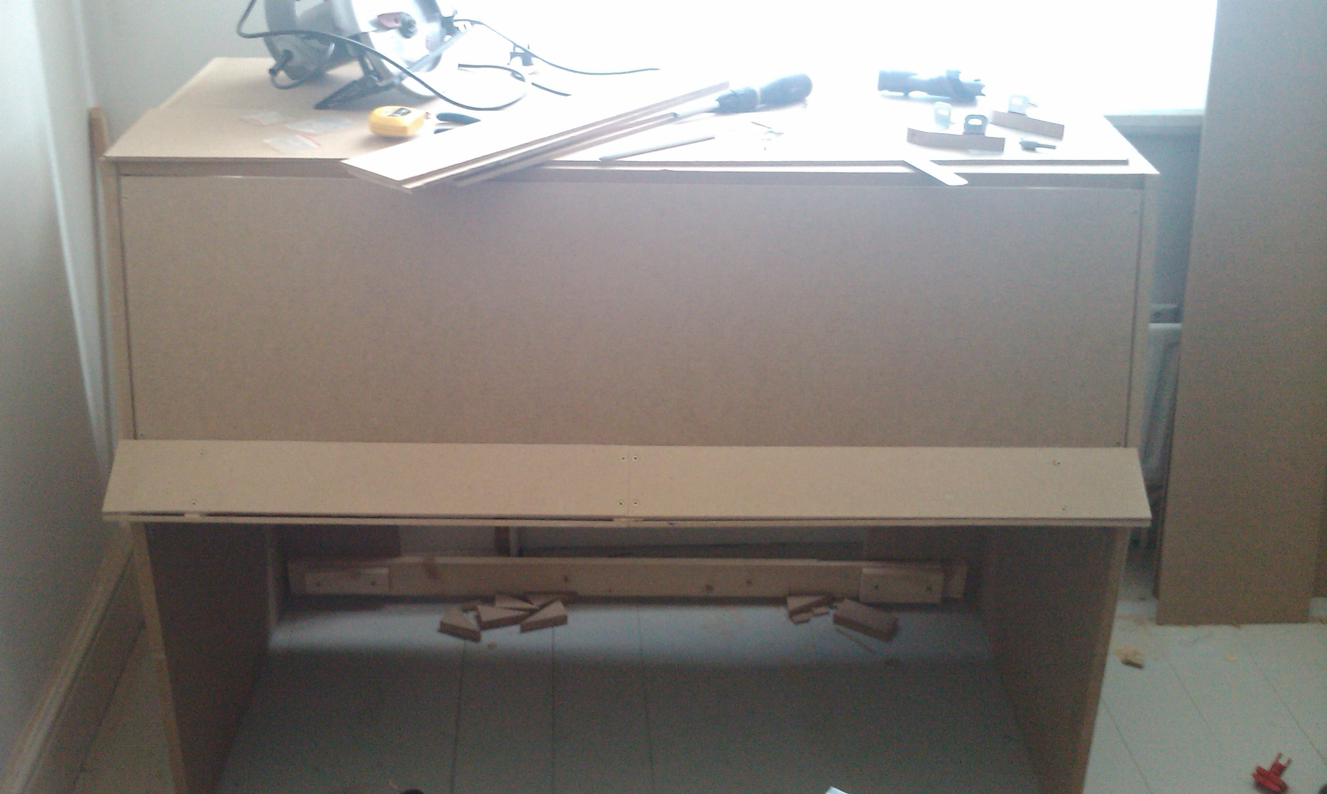 Put it together with some 6mm MDF panelling and... FAIL