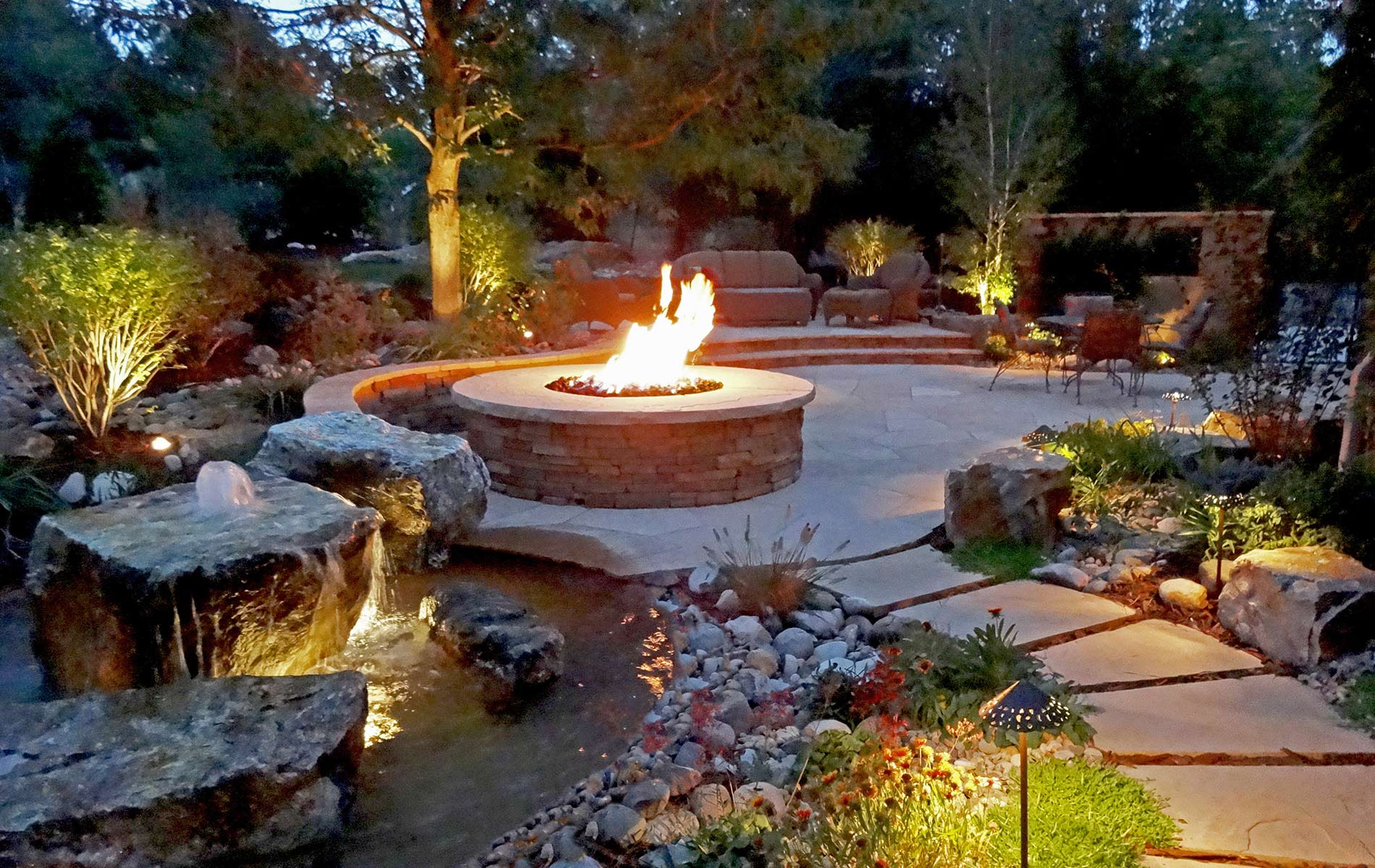 Rustic Ranch and Large Scale Landscape in Greenwood ... on Landscaping And Patios  id=45411