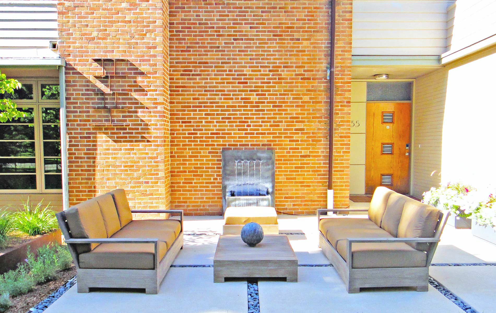 Modern Outdoor Living Space in Park Hill - Mile High ... on Designer Outdoor Living  id=53737