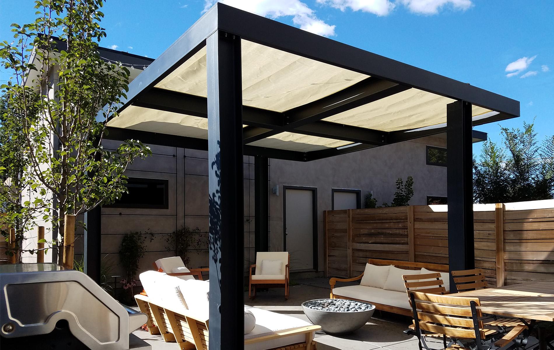 Ultra Modern Backyard Outdoor Living Area - Highlands ... on Designer Outdoor Living  id=82161