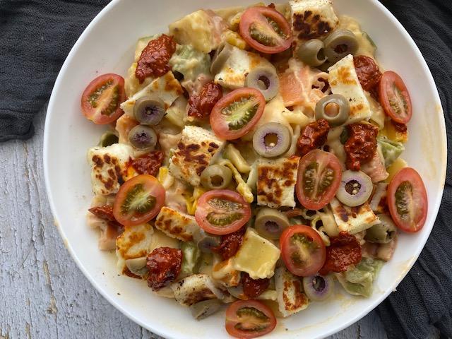 Harissa Halloumi Mac and Cheese