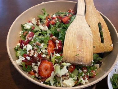 Strawberry and Blue Cheese Salad