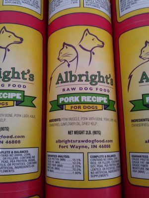 Albright's Raw Dog Food Pork Recipe