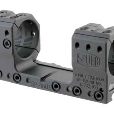 Spuhr SP-4601: 34mm Picatinny Mount 6MIL/20.6MOA - 1.181""
