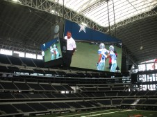 Dallas Stadium - that's one big TV