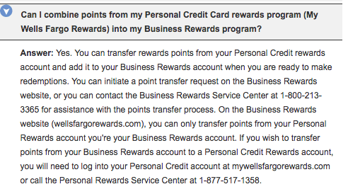 Wells fargo business platinum 500 offer existing checking account in general gofar rewards are transferable between any two accounts so this is an area ripe for exploration reheart Images