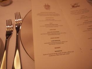 用餐區點菜單