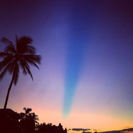 某一天的夕陽跟天空