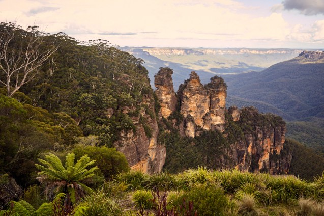 Three Sisters, Gesteinsformation, Blue Mountains, Landschaftsfoto, Landschaft, view, landscape, photo, travel, travelblog, Miles and Shores, things to do