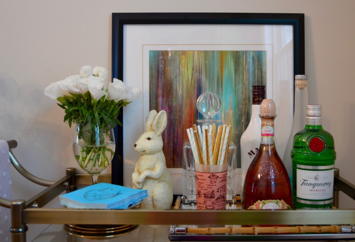 Easter Bar Cart