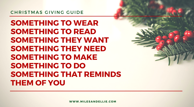 Christmas gift something to read something to wear