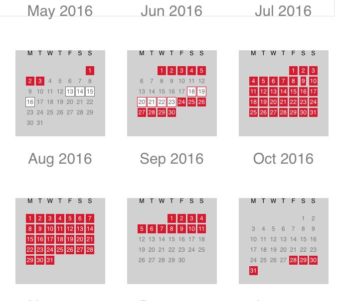 iberia calendar