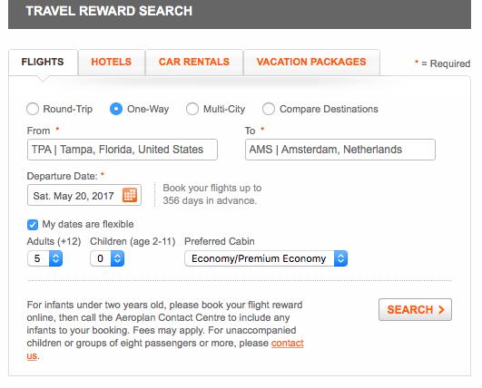 aeroplan search