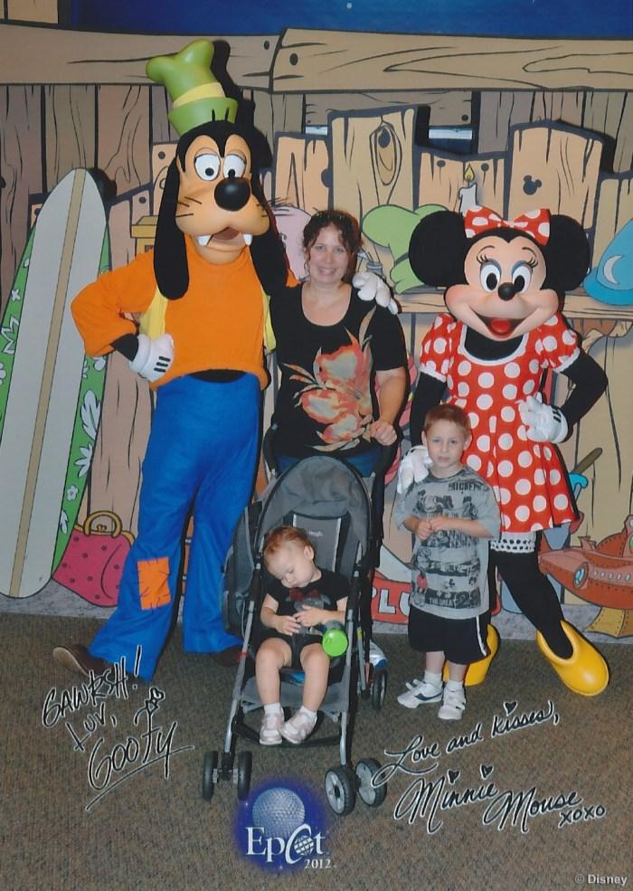Chase Disney Visa Character Meet and Greet at Epcot, 2012