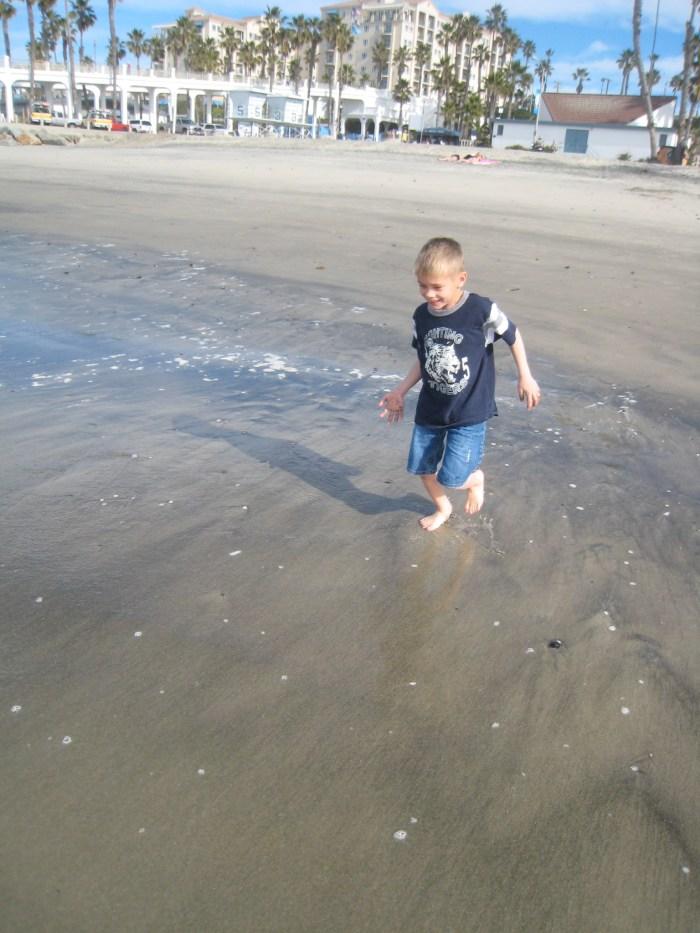 California beach in January--still fun!