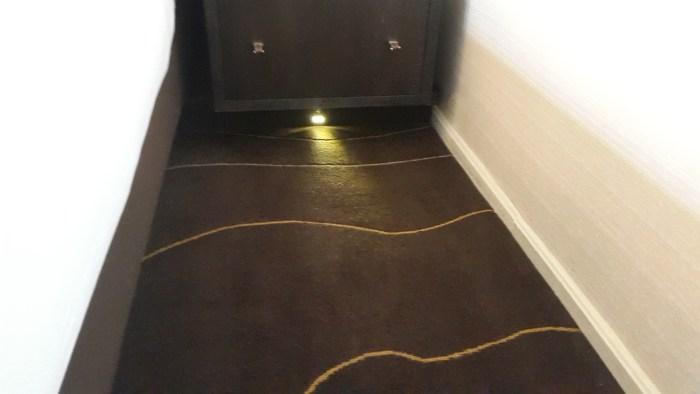 Motion sensor floor lighting