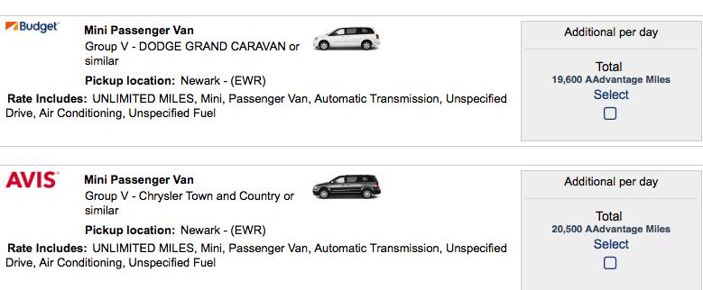 How Many Miles Aadvantage Car Rental