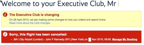 BA Cancellation