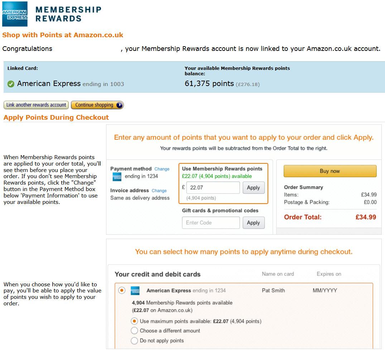 Membership Rewards Amazon Gutschein