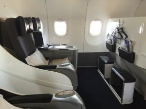 London City BA001 to JFK interior