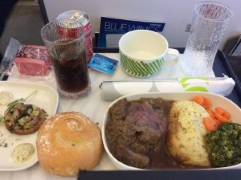 Finnair Business Class Meal