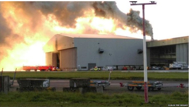 Dublin Airport Blaze