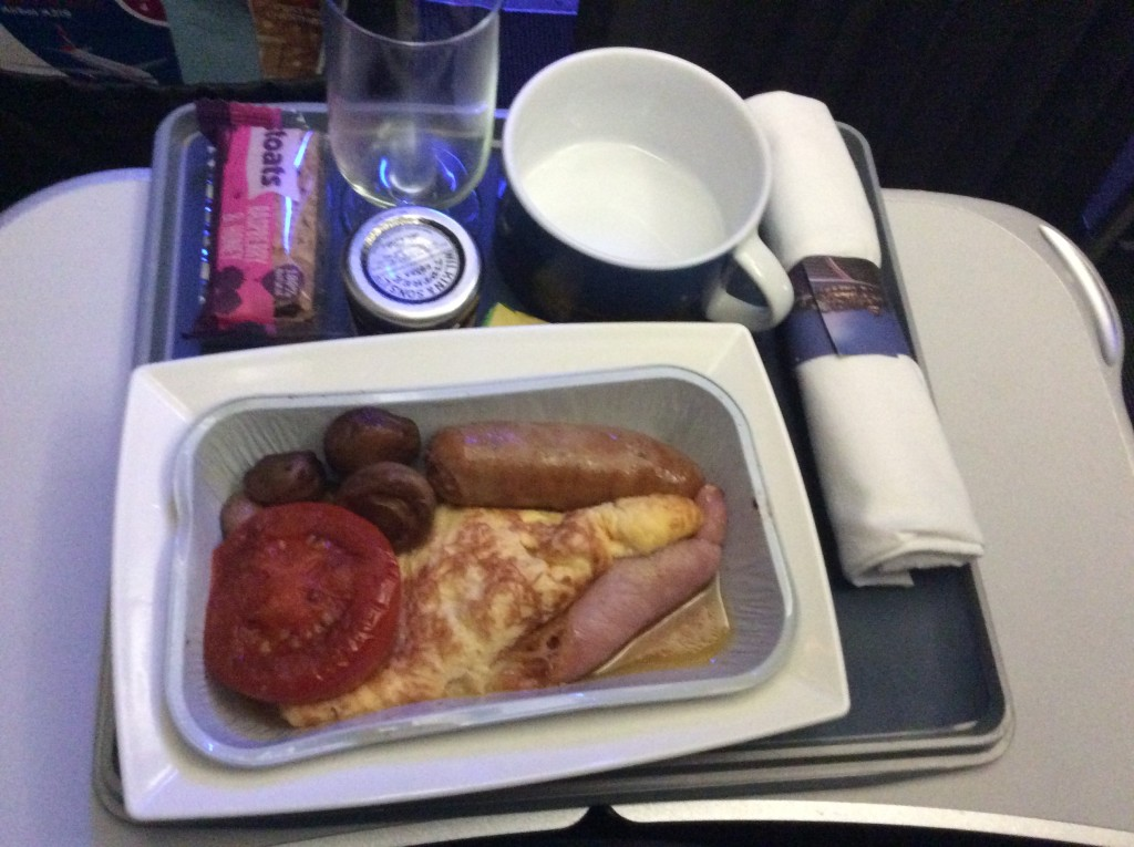 Hot breakfast BA DUB-LHR