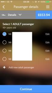 Passenger Name