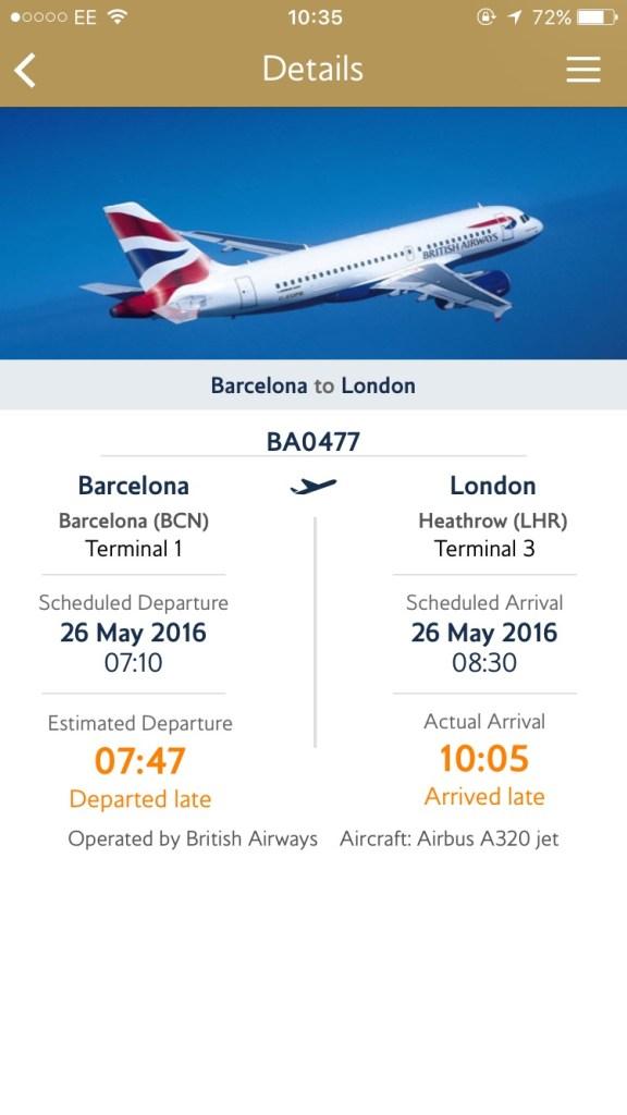 BA delay