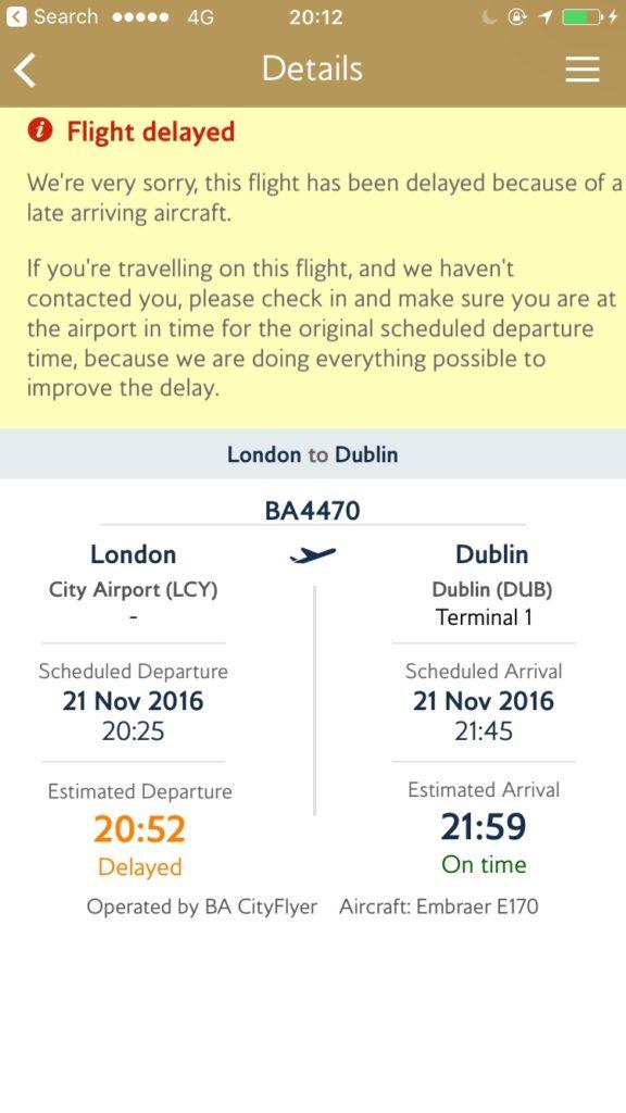 BA447- delay