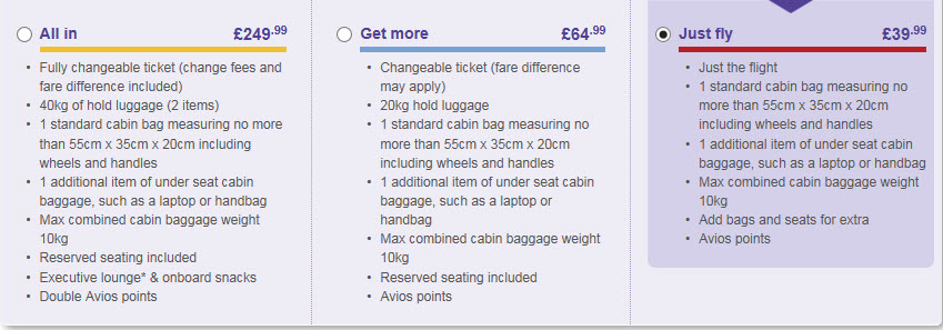 Flybe fares