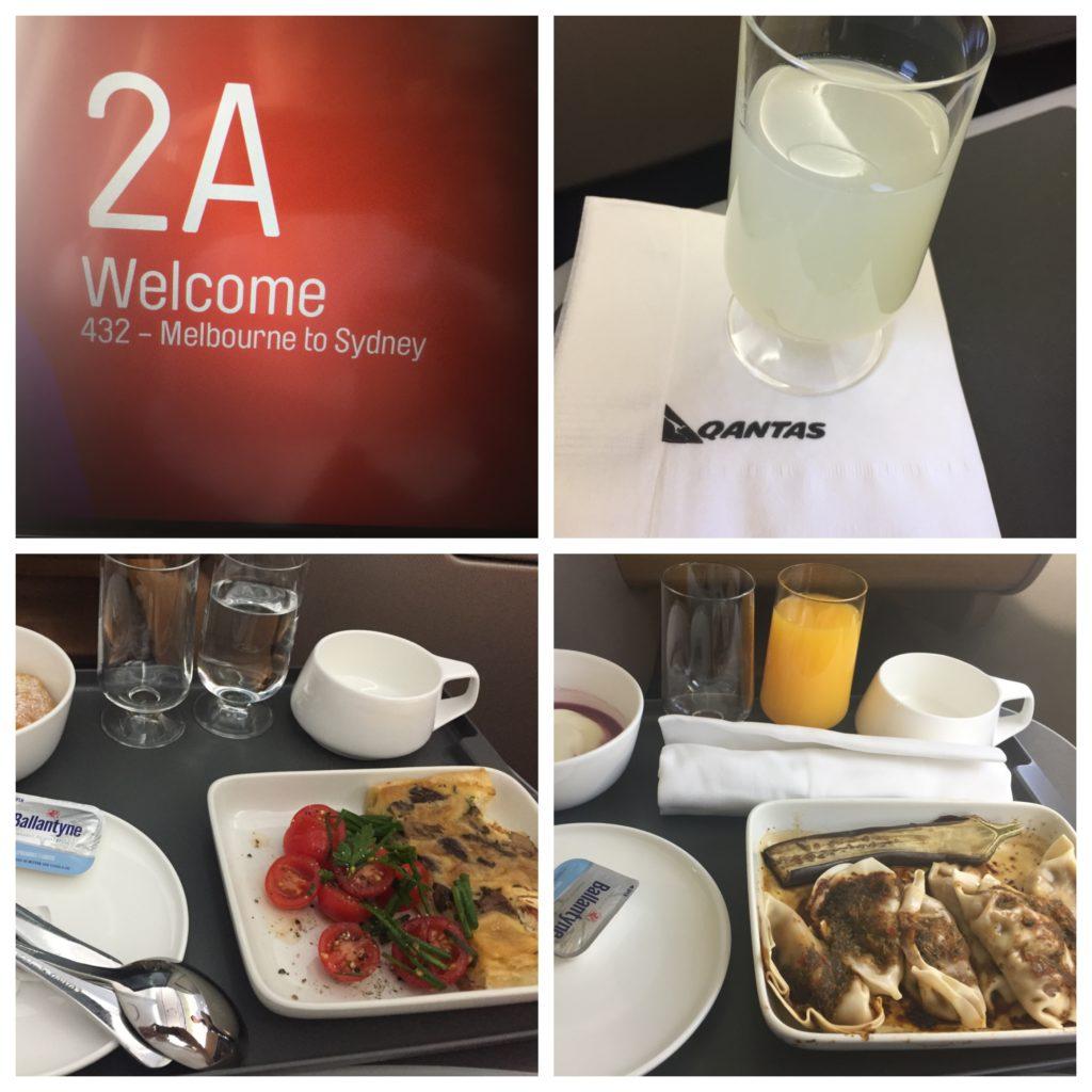 Collage_Fotor Qantas A330 Food