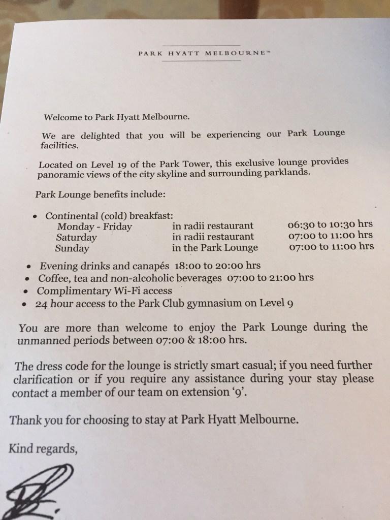 IMG_4828_Fotor Park Hyatt Melbourne Letter