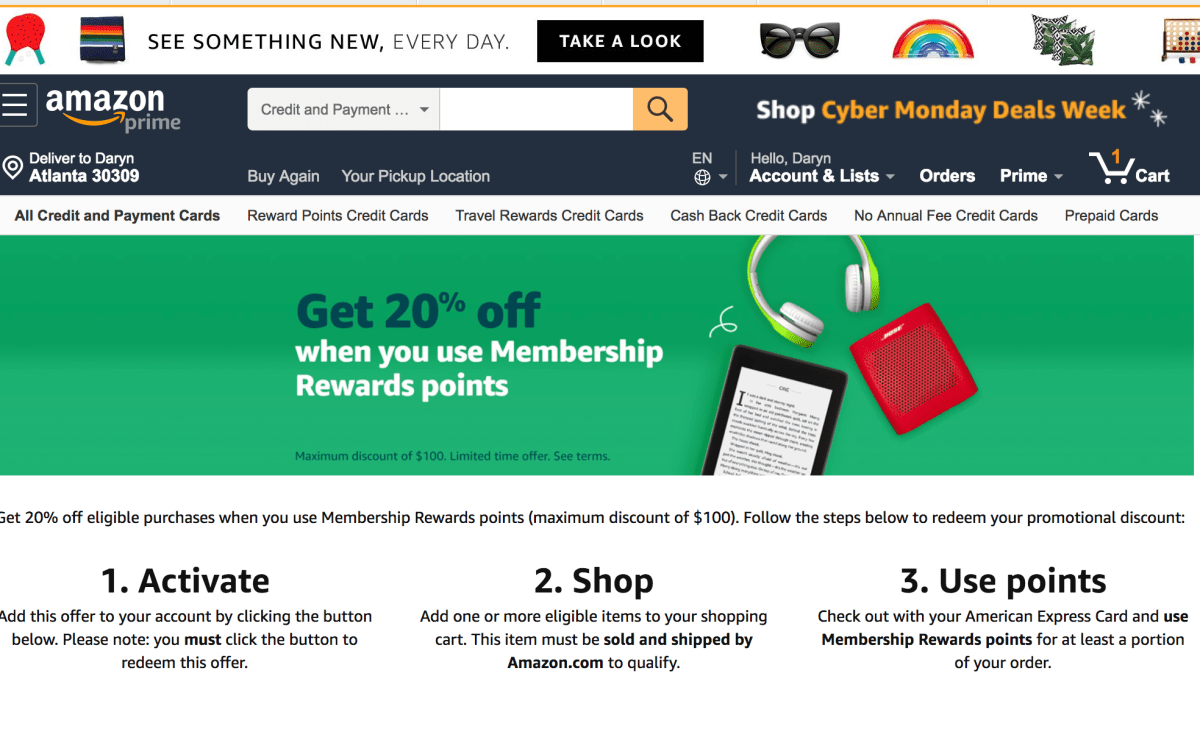 How American Express Cardholders Can Save 20% Shopping On Amazon