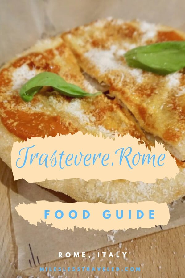 food guide to the best restaurants in trastevere rome