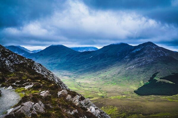 Mountain views Connemara National Park Ireland