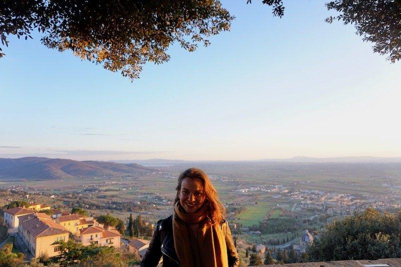 Sunset in Cortona Tuscany