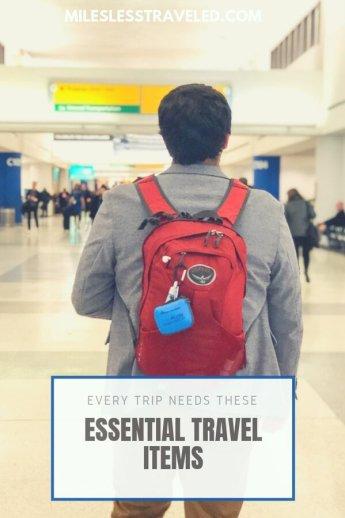 Essential Items Travel