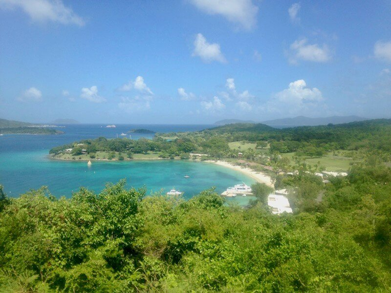 View from top of Hike St. John