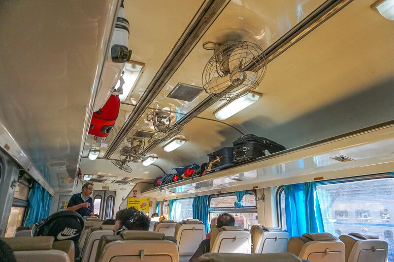 Inside of Bangkokg to Chiang Mai train