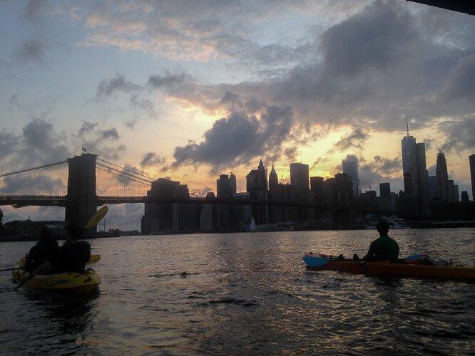 Kayaking NYC East River