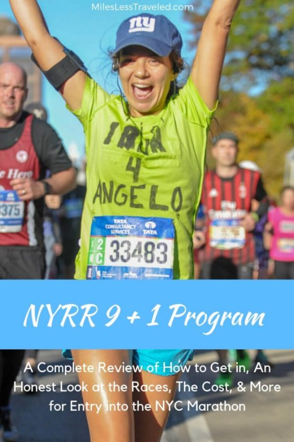 Woman running in nyc marathon