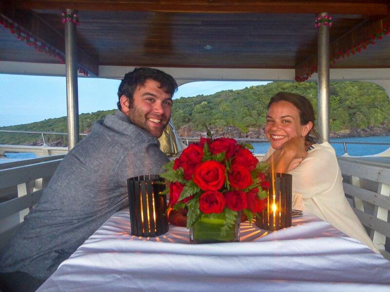 Romantic Dinner on the Squidboat