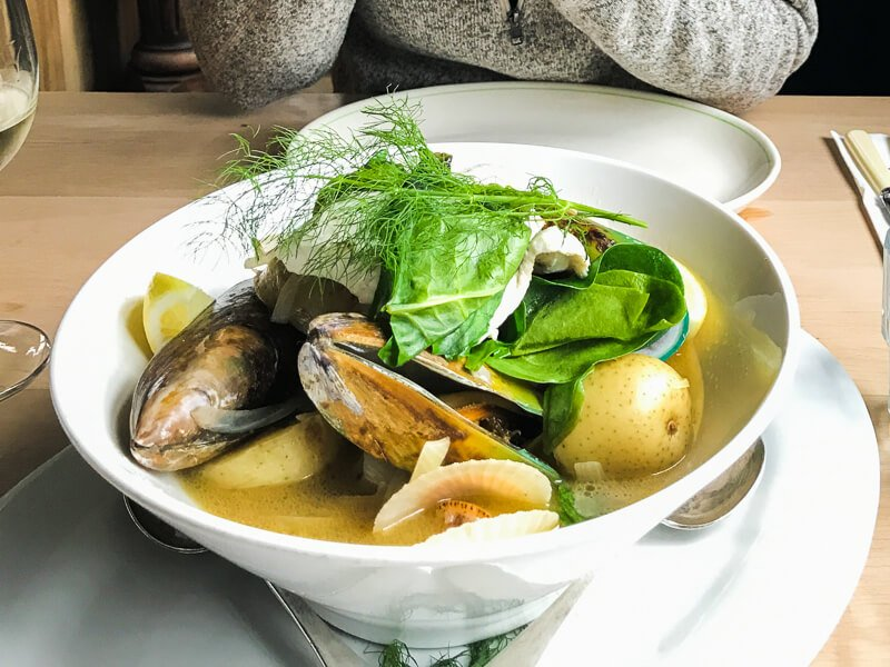 Seafood at Fleurs Place Restaurant New Zealand