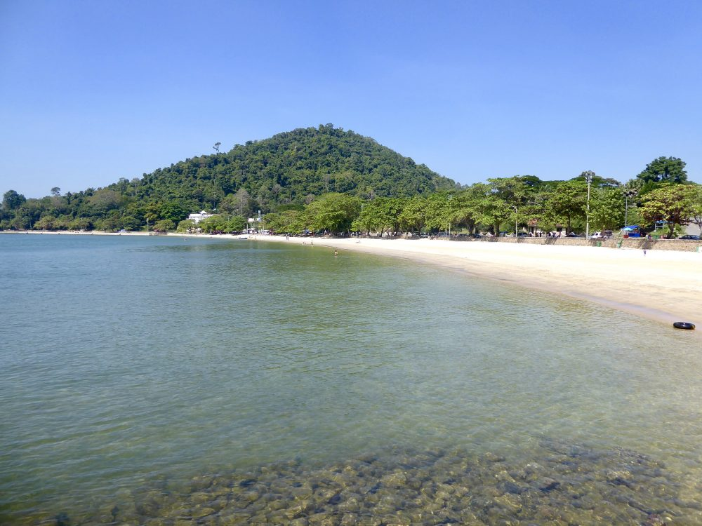 The beach in Kep Kampot Province Cambodia