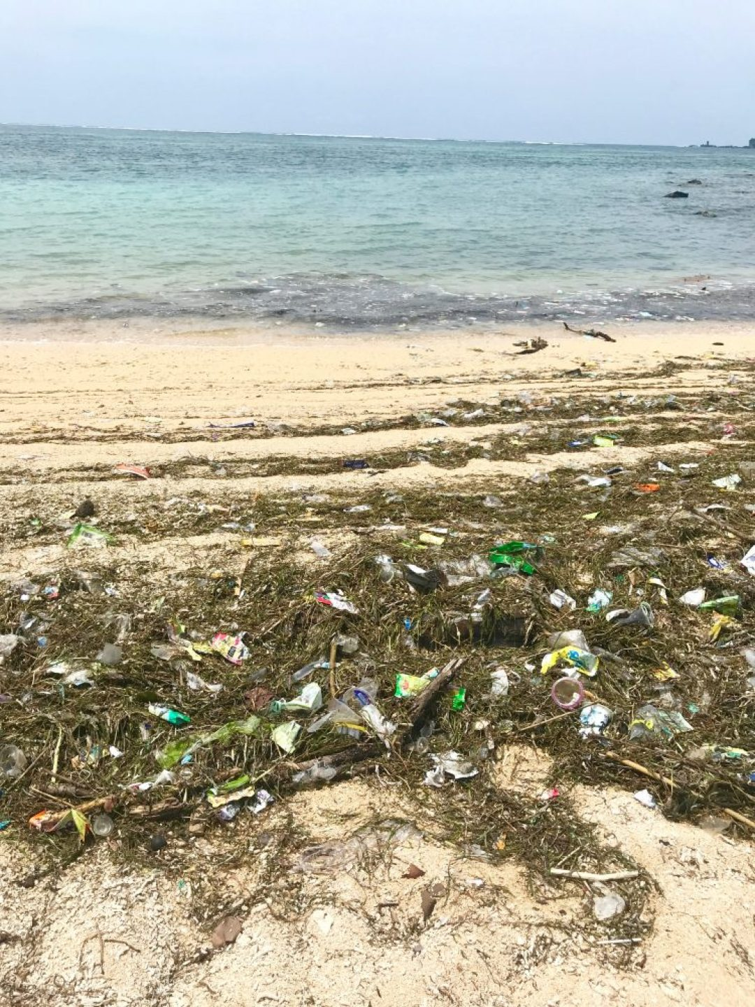 Garbage on the beach is a common theme throughout Indonesia.