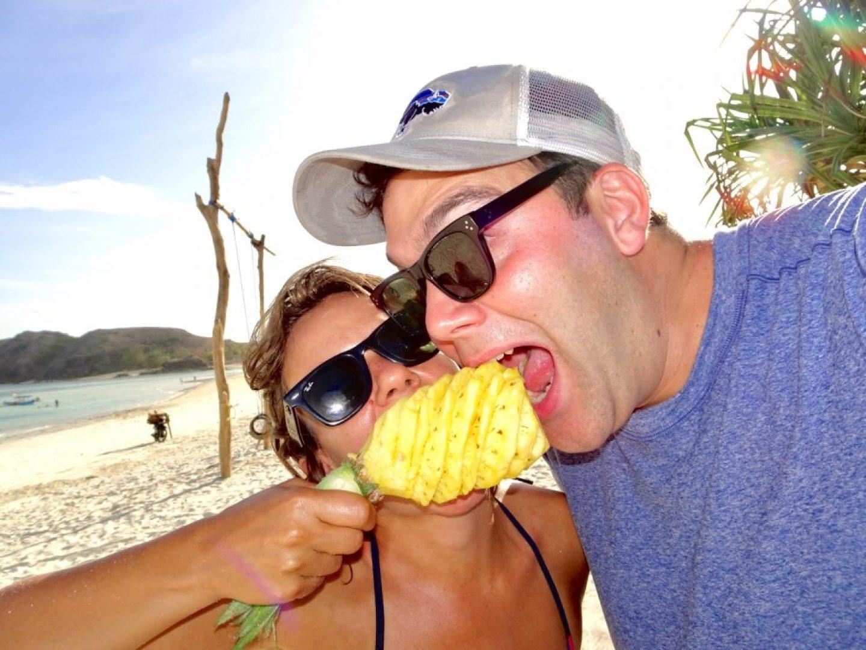Pineapple. Beach. Love.