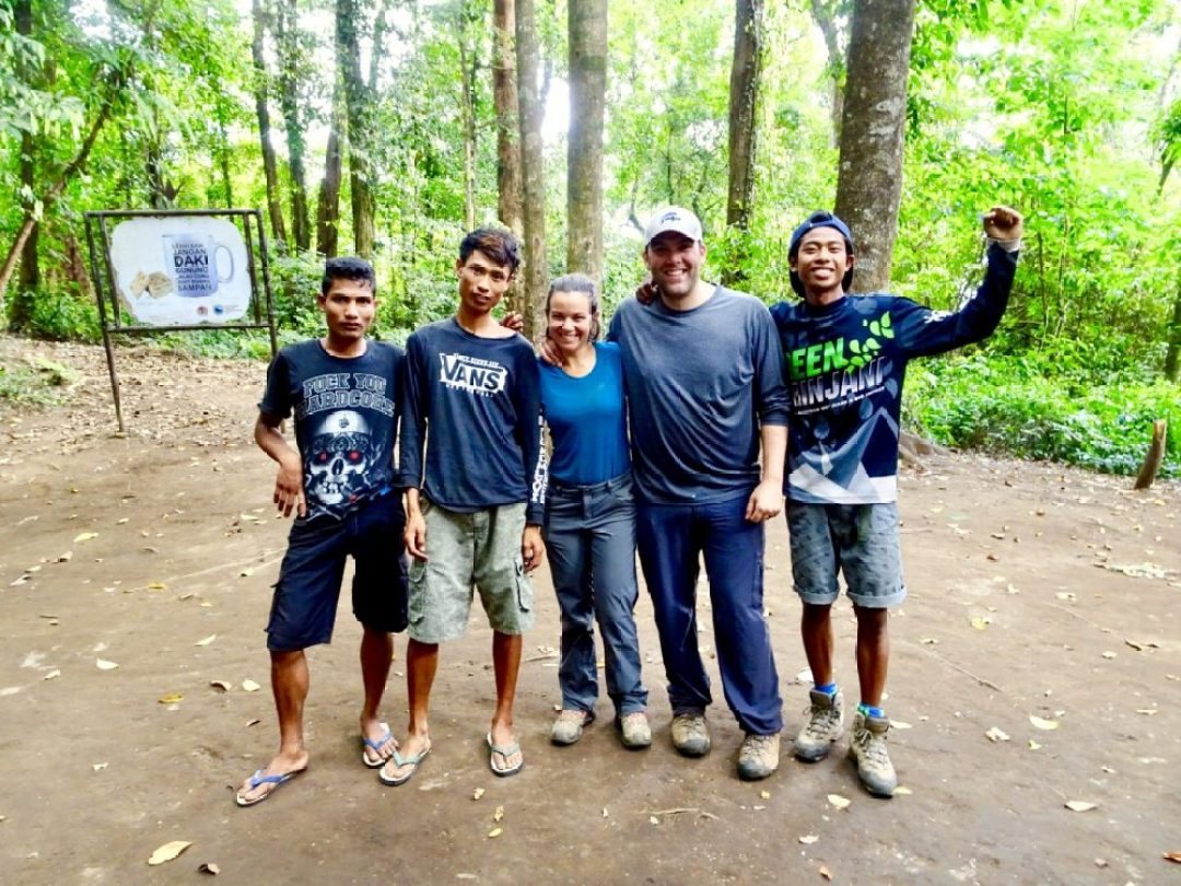 Our trekking crew up Mount Rinjani
