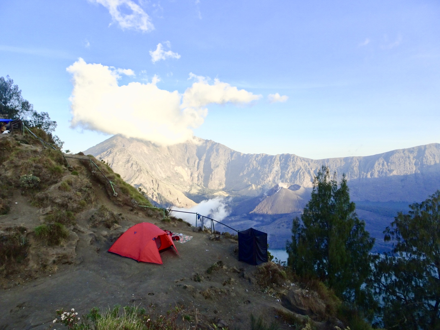 Lovely campsite setup on Mt. Rinjani